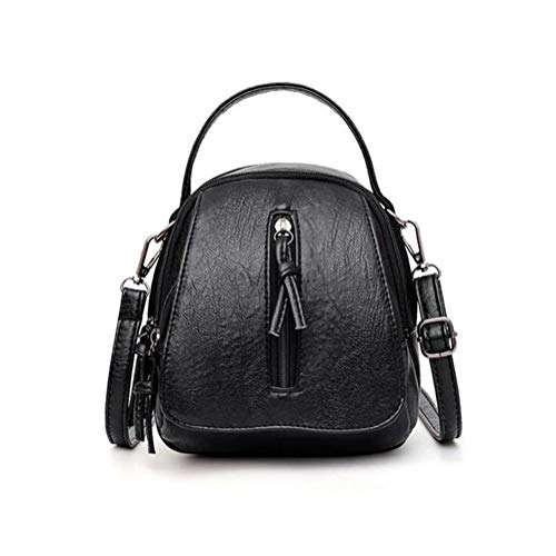 A-hyt Comfortable and convenient Vintage Soft Leather Shoulder Bags for Women Declamatory Capacity Female Handbag Twofold Compartment Crossbody Bags Lady Small Tote Easy hike