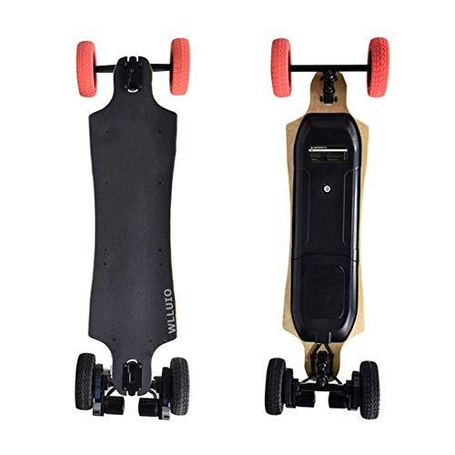 DX Elektrisches Skateboard, elektrisches Offroad-Longboard, Dual-1200-W-Motoren mit 25 MPH Höchstgeschwindigkeit, 25 ° C Steigleistung, City-Offroad-Cruiser-Board mit Fernbedienung
