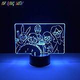 Lámpara de ilusión 3D Luz de noche LED Bobs Burger Bebé para niños Dormitorio Decorativo USB Lámpara de escritorio para niños Los mejores regalos de vacaciones de cumpleaños para niños