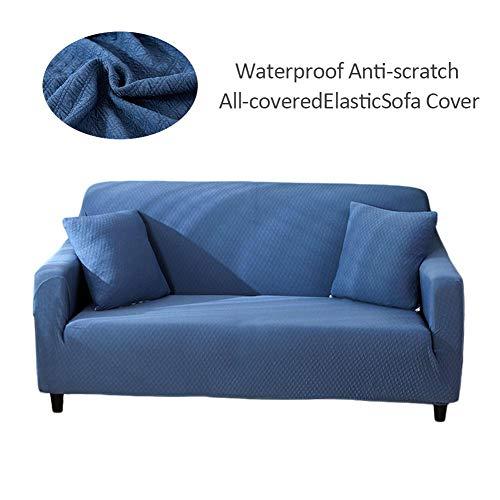 Sofá Cover sofá funda, impermeable antideslizante antiarañazos, Stretch sofá cubre sofá funda protectora para 1/2/3/4asiento sofá, poliéster, Navy Blau, 2-Sitzer