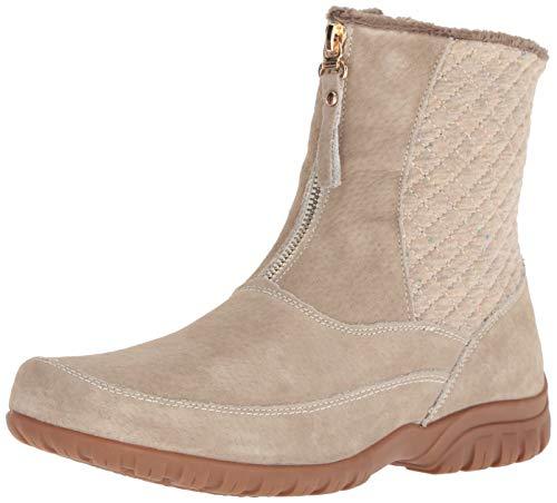 Propét Women's Delaney Mid Zip Calf Boot, Sand, Numeric_9_Point_5 X-Wide