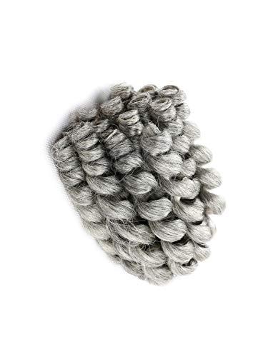Blondwigs #Grey Color WandCurly Hair Crochet Havana Mambo Twist Synthetic Braiding Hair Piece 10Inch 20 Roots/Pack 5Packs/Lot