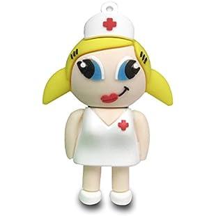 818-Shop No900070016 Hi-Speed 2.0 USB flash drive 16GB Comical Nurse white