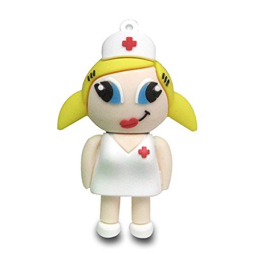 818-Shop no900070032 Memorias USB enfermera divertida (32 GB), color blanco
