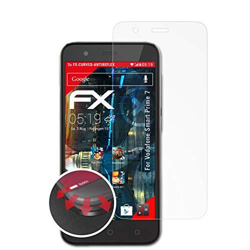 atFolix Schutzfolie kompatibel mit Vodafone Smart Prime 7 Folie, entspiegelnde & Flexible FX Bildschirmschutzfolie (3X)