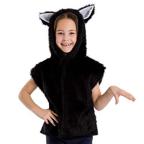 Déguisement Chat Noir pour Les Enfants. Taille Unique 3-9 Ans.
