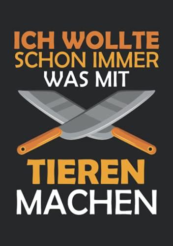 Notizbuch A5 kariert mit Softcover Design: Lustiger Spruch für Grill Männer Metzger Tier Grillmeister: 120 karierte DIN A5 Seiten