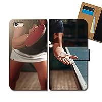 AQUOS sense4 SIMフリー SH-M15 ケース 手帳型 スポーツ 手帳ケース スマホケース カバー 卓球 ピンポン ラケット E0334030115303