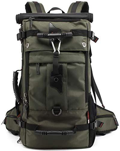 ACOMOO Large Capacity Oxford Travel Bag 17 Inch Laptop Outdoor Hiking Duffel Bag Camping Rucksack Trekking Backpack Green-Green