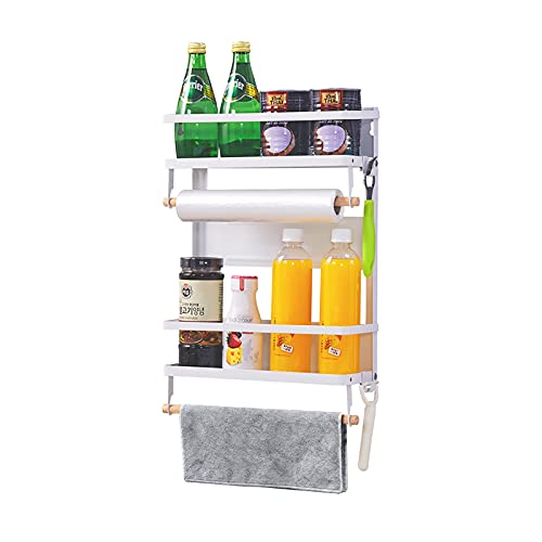 XIAPIA Organizador Especias Cocina Soportes para Botes de Especias Estante Lateral Nevera Magnético Estantería para Refrigerador Almacenamiento de Cocina y Despensa