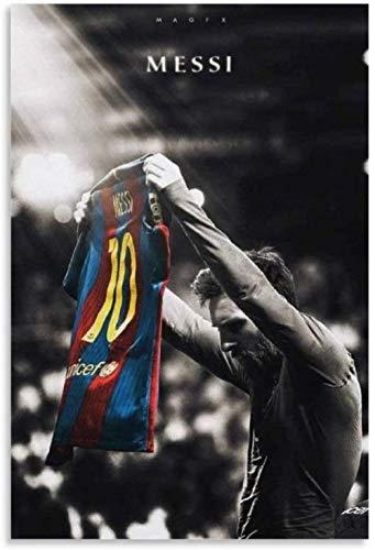 MKAN Póster De Messi FC Barcelona, Pintura Decorativa, Lienzo, Arte De Pared, Carteles para Sala De Estar, Pintura para Dormitorio, 50X70Cm