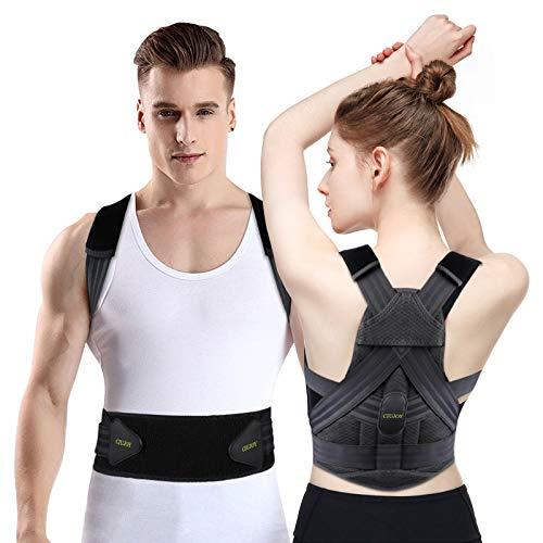 CIUJOY Rücken Geradehalter,Neueste Upgrade Haltungskorrektur Verstellbar Atmungsaktiv Rücken Haltungstrainer,Verbesserung der Körperhaltung und Schmerzlinderung von Nacken Rücken Schulter. L