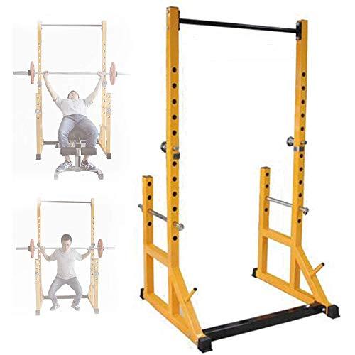 ZHIPENG - Soporte de pesas para sentadillas, resistente, multifunción, resistente, para entrenamiento en casa, gimnasio, fitness, entrenamiento de fuerza, banco de pesas