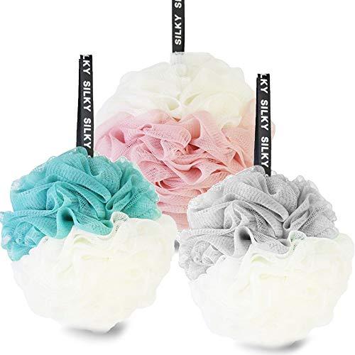 3pcs Esponjas de baño,Esponja bano,Loofah de baño,Esponja exfoliante, para mujeres y hombres para exfoliar, limpiar y calmar la piel