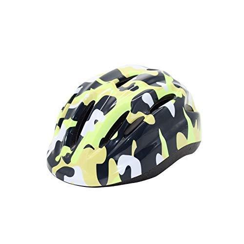 Casco de bicicleta, patinaje ajustable niños monopatín casco de montar Protege a los menores niños Casco de carretera bicicleta de montaña casco de camuflaje Resistencia al impacto (Color: JG, Tamaño: