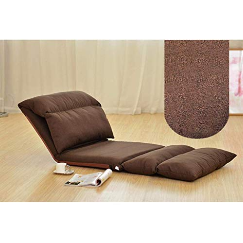 GAXQFEI Furniture Folding Floor Chair, Foldable Floor Chair Lazy Sofa with Back Support for Adults, Meditation Seminars Reading Tv Watching Gaming, Fully Assembled,Braun