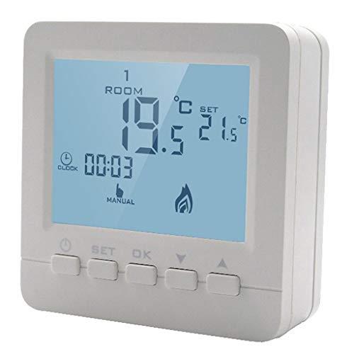 joyMerit Digital Thermostat Programmierbar Wandthermostat Raumthermostat mit LCD Touchscreen