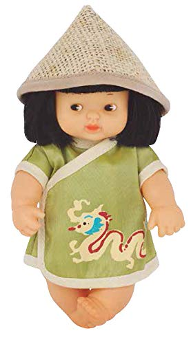 Los Barriguitas - Barriguitas del mundo China, muñeco bebé barriguitas de China, colección del mundo con ropa para muñecas, juguete para niños y niñas a partir de 3 años, FAMOSA (700016875)