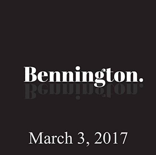Bennington, Tom Scharpling, March 3, 2017 audiobook cover art