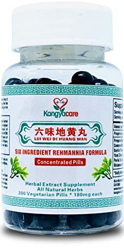[Kangyacare] Liu Wei Di Huang Wan - Six Ingredient Rehmannia Formula -Energy & Immune Boost, Balances Hormones, Sugar, Lipids & Blood Pressure -Support Cardiovascular -100% Natural -200 Ct (1 Bottle)