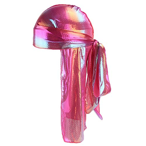 Roiper Femmes & Hommes Longue Queue Pirate Chapeau Hip Hop multicolore Turban Cool Cap Hood Chapeaux bandeau