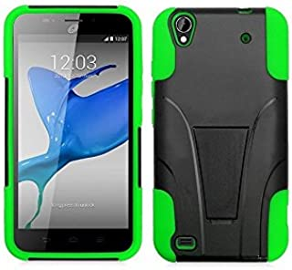 FastSun T -Stand Hybrid Case Phone Cover for ZTE Quartz Z797C 797C (Black-Green)