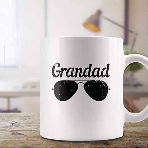 N\A Taza de Abuelo Regalo Embarazo revelar Anuncio de Nacimiento Baby Shower Presente Nuevo bebé Taza de café Gafas de Sol Taza de té