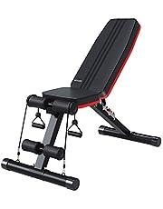 Ativafit Banco de peso ajustable para entrenamiento de cuerpo completo, multiusos, banco de peso, plegable y plano, para gimnasio en casa