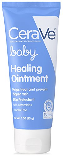 CeraVe Healing Ointment for Baby | Diaper Rash Cream for Extra Dry Cracked Skin | Lanolin amp Fragrance Free | 3 Ounce