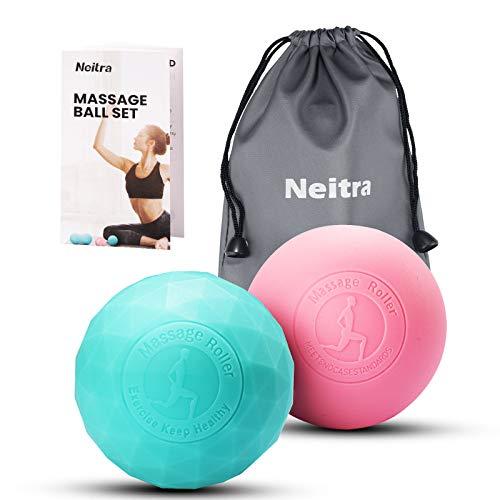 Neitra Masaż Lacrosse Ball do zwalniania myofascjalnego, terapii punktami spustowymi, masażer łagodzący ból mięśni, głęboka tkanka, węzły mięśni i terapia jogi