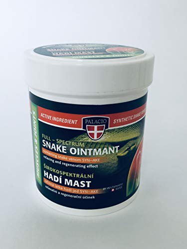 Palacio Allzweck Massagesalbe/Creme mit Schlangengift SYN-AKE-Formel & Collagen - ohne Mineralöl, Silikone, Parabene, Paraffin - 125 ml!