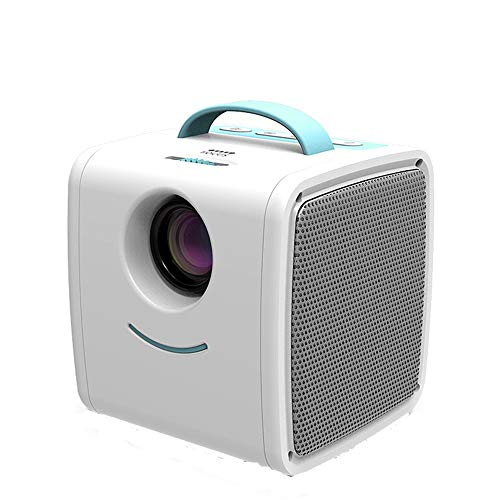 ZXY Mini Circular Proyector de LCD, portátil Educación Buena disipación de Calor del Juguete del proyector 1080P Familia Habitaciones de niños