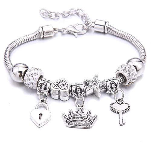 Charm Bracelet & Bangles Jewelry 6-Colors Crystal Beads Elephant Beading Bracelets Brands Bracelets Women Girl Friendship Gift-41