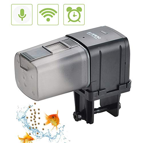 Songway Automatic Fish Feeder, WiFi Controlled Timer,Auto Fish Food Dispenser,Digital Fish Timed Feeder Adjustable for Fish Tank Aquarium Pond Vacation Weekend Holiday
