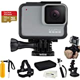 GoPro HERO7 White - W/SanDisk Extreme 32GB Micro SDHC, with an Essential Accessory Kit Bundle, Includes: Car Mount, Head Strap, Wrist Strap, Extendable Monopod, Carrying Case – Large + More