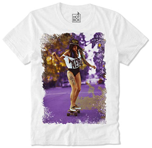 HOTBOX T-shirt Hot Sexy Skater Girl Skateboard Skate Dope Swag Chicana Pin Up Trippy