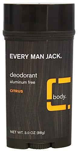 Every Man Jack Deodorant 3 Ounce Citrus (Aluminum-Free) (3 Pack)