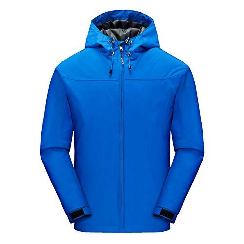 Leeofty Heren Mountain waterdichte shell jas ski-jas winddicht jack winter warme jas voor kamperen wandelen skiën