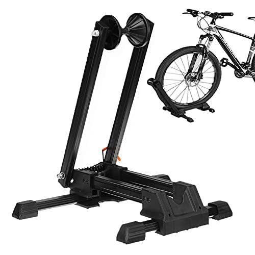 QAQWER Soporte para bicicleta plegable, se adapta a bicicletas de 20 a 29 pulgadas, soporte para bicicleta de montaña y carretera, interior y exterior, almacenamiento de garaje