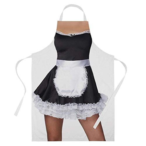 Ashasds Band Tidy Clothing Sexy French Maid Costume Funny Valentine BBQ Cooking Baking Apron