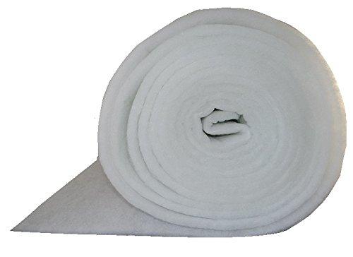 G4 Filtermatte EU4 ca. 1 x 20 m Stärke ca. 18-22mm ca. 220g/m² Ersatzfiltervlies zum selbst zuschneiden Lüftungsanlage Wohnraumbelüftung Kompressoren Badlüfter Sauger Klima Lüftung Wärmerückgewinnungsanlagen