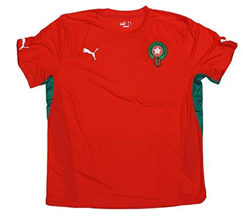 PUMA Marokko Maroc Trikot Gr L Training Jersey Rot Fan Shirt 734085 26, Größe:L