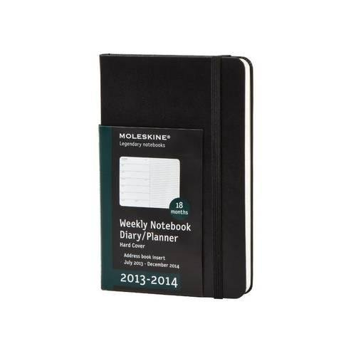 Moleskine Wochen-Notizkalender 18 Monate 2013-2014 / Large / Weicher Einband / Schwarz (Planners & Datebooks)