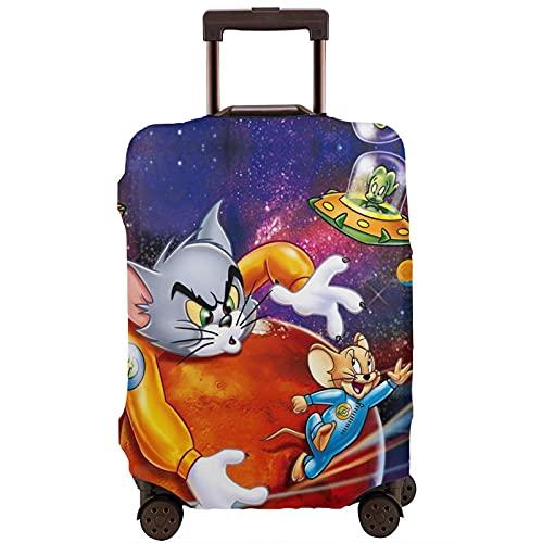 Tom Jerry Maleta de protección de manga elástica, caja protectora antiarañazos, mangas elásticas gruesas, fáciles de limpiar, impresas, elegantes y lindas