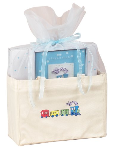Elegant Baby Thank Heaven Tote Bag Set- Boy