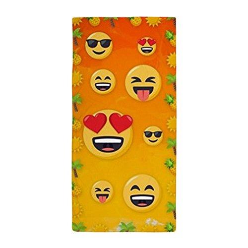 CafePress – emoji Coucher de soleil – Grande serviette de plage, doux 76,2 x 152,4 cm Serviette de toilette avec design unique