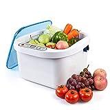 Global-Dental Steri~lizer Vegetable Fruit Steri~lizer Cleaner Washer Home Use Health Ultrasonic Washer (12.8L)