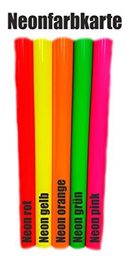 folien-zentrum (16,99€/m²) Oracal Neon 6510 Fluorescent Cast Fluoreszierend Plotterfolie 1m x 1m Folie Orafol (Neon Gelb)