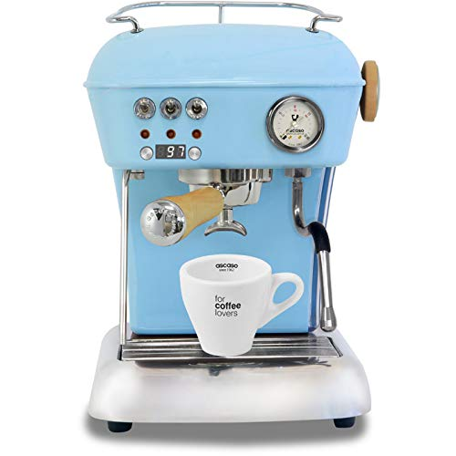 Best Prices! Ascaso Dream Up V3 Kid Blue PID Wood Handle Semi-Automatic 110 volt Espresso Machine - ...