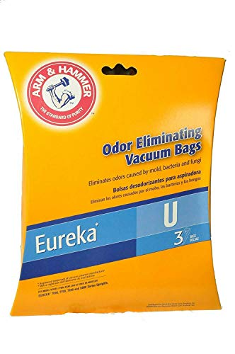 Replacement for Eureka, 62599A, Arm & Hammer Type U Vacuum Cleaner Paper Bags 3pk